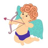 Cupid Valentine's Day, vector Royalty Free Stock Photo