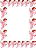 Cupid valentines day border frame Royalty Free Stock Photos