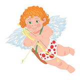 Cupid. Vector character. Template for greeting Stock Image