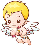 Cupid. Vector illustration of Cute Cupid with arrows and onion stock illustration