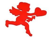 Cupid vermelho ilustração royalty free