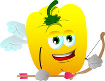 Cupid yellow bell pepper Royalty Free Stock Photos