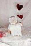 Cupiden behandla som ett barn Royaltyfri Foto