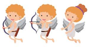 Cupidi con l'arco e la freccia Immagine Stock Libera da Diritti