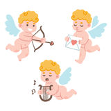 Cupidi svegli del fumetto Immagine Stock