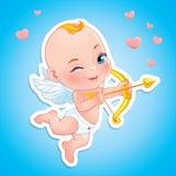 Cupido adorabile con l'arco Immagini Stock