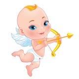 Cupido adorabile con l'arco Fotografie Stock Libere da Diritti