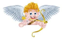 Cupido Angel Cartoon de las tarjetas del día de San Valentín Imágenes de archivo libres de regalías