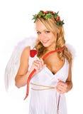 Cupido: Aspetti a Hunt For Love Fotografia Stock Libera da Diritti