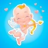 Cupido bonito com curva Foto de Stock