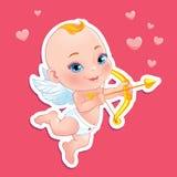 Cupido bonito com curva Imagem de Stock Royalty Free