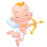 Cupido bonito com curva Fotografia de Stock