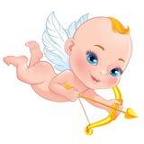 Cupido bonito com curva Imagens de Stock