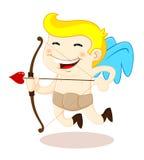 Cupido com curva e seta Fotografia de Stock