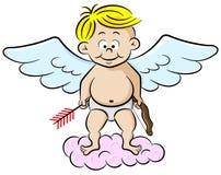 Cupido com curva e seta ilustração royalty free