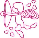 Cupido completamente do AMOR fotografia de stock