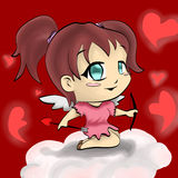 Cupido da menina Fotos de Stock Royalty Free