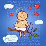 Cupido de sorriso, ilustração do vetor Imagens de Stock