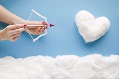 Cupido del ` s del biglietto di S. Valentino Fotografia Stock Libera da Diritti