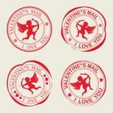 Cupido della siluetta della stampa c royalty illustrazione gratis
