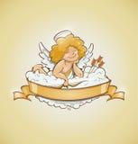 Cupido di angelo di amore per il giorno di biglietti di S. Valentino Fotografia Stock