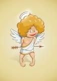 Cupido di angelo per il giorno di biglietti di S. Valentino Fotografia Stock Libera da Diritti