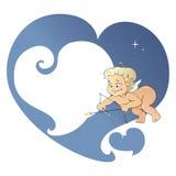 Cupido die iemand beogen Vector Illustratie