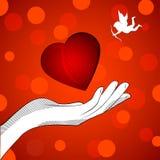 Cupido do coração ilustração do vetor