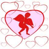 Cupido el día de tarjetas del día de San Valentín Fotos de archivo