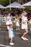 Cupido en el desfile 2014 de Moomba Imagen de archivo libre de regalías