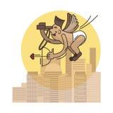 Cupido grappige kinderachtige illustratie royalty-vrije illustratie