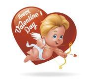 Cupido il giorno del ½ s del ¿ di Valentineï Fotografia Stock