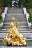 Cupido lustiger Brunnen Stockbild