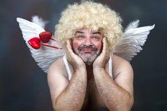 Cupido maduro imagem de stock royalty free