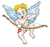 Cupido met boog Stock Foto's