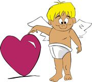 Cupido met hart vector illustratie