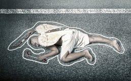 Cupido morto dopo l'incidente stradale immagini stock