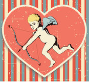 Cupido no fundo textured. Fotos de Stock