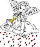 Cupido que joga uma tubulação Foto de Stock Royalty Free