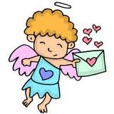 Cupido romanzesco con il fumetto posteriore illustrazione di stock