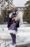 Cupido Vermomde Persoon - Annecy Venetiaans Carnaval 2013 Stock Foto's