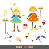 Cupidoengelen royalty-vrije illustratie