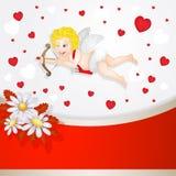 Cupidon για την ημέρα Valentine's ελεύθερη απεικόνιση δικαιώματος