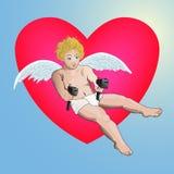 Cupidon armado Fotos de Stock Royalty Free