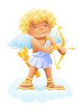 Cupidon avec la proue et la flèche Illustration de Vecteur