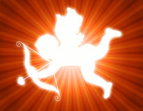 Cupidon avec la proue et la flèche Images libres de droits