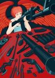 Cupidon avec une arme à feu Photographie stock