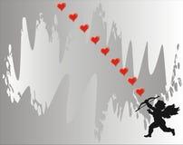 Cupidon - carte d'amour - vecteur Photo libre de droits
