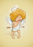 Cupidon d'ange pour le jour de valentines Photo libre de droits