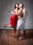 Cupidon dans l'amour Photographie stock libre de droits
